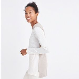 Madewell L Whisper Cotton Color Block Long Sleeve
